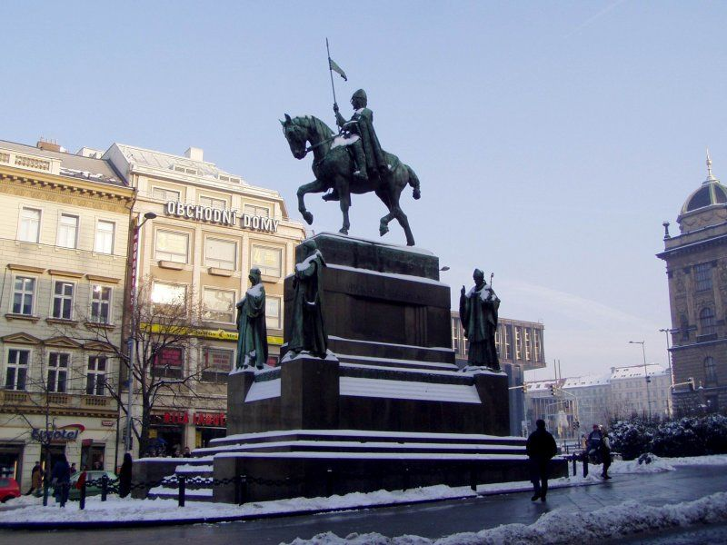 Jezdecká socha Sv. Václava