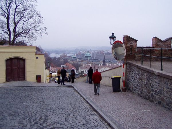 Staré zámecké schody na Opyši